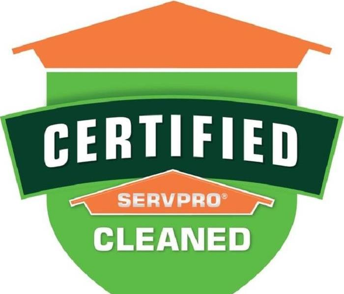 SERVPRO logo of the orange house with Certified Clean written underneath