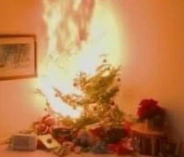Fire Damage Dangers of Christmas Tree Fires